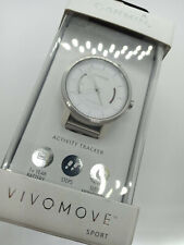 Garmin Vivomove Sport Bluetooth Activity Fitness Tracker Analog Dial Watch White