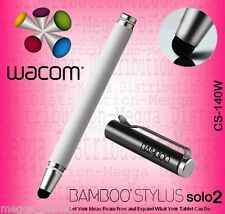 Wacom Bamboo Solo 2 Touch Screen Tablet/Smartphone Digital Stylus Pen WHITE