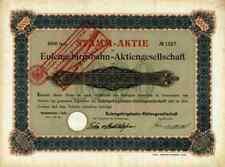 Eulengebirgsbahn AG 1901 Reichenbach Dzierzoniów Silberberg Neurode AGIV Gründer