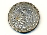 Mexico:KM-409,1 Peso 1909 MoAM * LIBERTY CAP * Silver * AU-UNC *