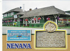 "*Postcard-""Railroad Museum/Nenana Depot"" /Alaska/ (Pres.Harding Visited) (B341"