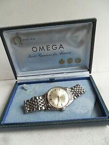 SIGNED S/S Vintage 1954 Men's Omega Automatic 17J Swiss Watch w/ B of R Bracelet