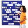 Folding Hanging Transparent Classroom Pocket Chart Teaching Card Holder Pocket