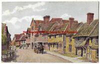 Sussex AR Quinton *2009 Church Street Steyning 1924 Vintage Postcard 16.1