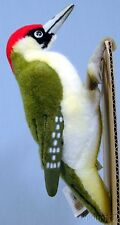 KOSEN Made in Germany NEW Green, Black & White Red Headed Woodpecker PLUSH TOY