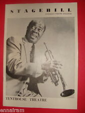 Louis Armstrong 1959 Chicago Stagebill Highland Park playbill