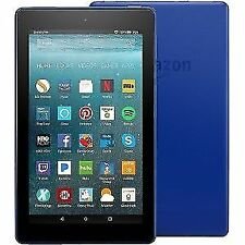 "Amazon Fire 7 Tablet With Alexa 7"" Display 16 GB Marine Blue 7th Generation"