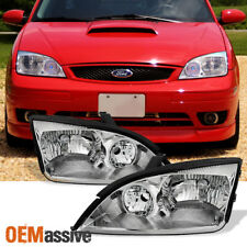 2005 2006 2007 Ford Focus Left + Right Side Headlights Head Lamps Assembly Pair