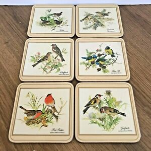 Vintage Pimpernel Coasters x 6 European Birds VGC