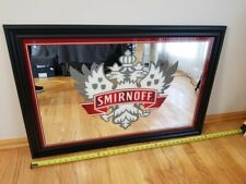 Smirnoff Vodka Distillery Bar Advertisment Large Black Mirror Man Cave Rare