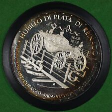 1973 Netherlands Antilles 25th Anniversary Queen Juliana Proof 25F Silver Coin