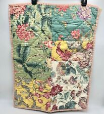 """NEW Pottery Barn """"Shirley"""" Sham STANDARD Floral Patchwork Reversible 20 X 26"""