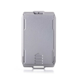 CAPSULE SLIDE with Removable stainless steel clip men credit card case RFID