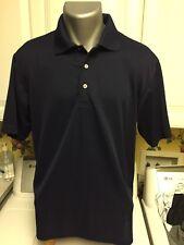 PGA Tour Polo Golf Mens Shirt Medium Blue  Short Sleeve Casual Wear - Polyester