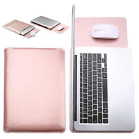 """For 13"""" 13.3"""" inch Laptop Tablet Rose Gold Universal PU Leather Sleeve Bag Pouch"""