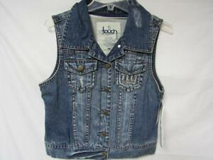 New York Giants Womens Large Snap Up Touch by Alyssa Milano Vest Jacket B1 132