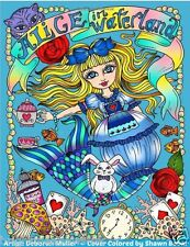 Alice Waterland Adult Colouring Book Wonderland Fantasy Fairy Tale Enchanted
