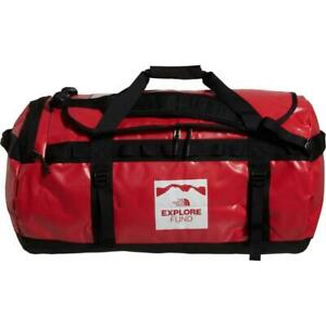 New The North Face Base Camp Duffle Bag Luggage Water Resistant L 95L Red Large