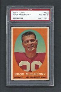 1958 Topps #122 HUGH McELHENNY HOF San Francisco 49'ers PSA 8 NM/MT CENTERED!