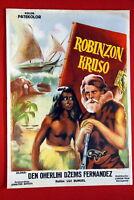 ROBINSON CRUSOE BUNUEL 1954 OLD RARE EXYU MOVIE POSTER