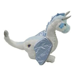 Ganz Ice Dragon White & Blue Plush Soft Toy Stuffed Animal Washed and Clean 23cm