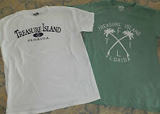 Two (2) Womens / Mens TREASURE ISLAND Short-Sleeved T-Shirts (Size Med)