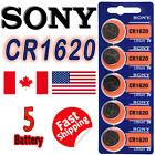 5 Pcs Sony CR1620 Lithium Cell Battery 165mAh 3.0V, DL1620, ECR1620 Exp 2030
