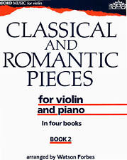 Classical and Romantic Pieces arr Watson Forbes vol 2 partition violon et piano