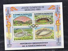 Santo Tomé y Principe Deportes Olinpiada Moscu año 1980 (CP-377)