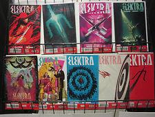 Elektra (Marvel v4 2014) #2-4, 6-11 Lot Assassin Tales w Blackman + Del Mundo