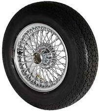 NEW WIRE WHEEL AND TYRE 5 X 15 CURLY HUB JAGUAR E TYPE MK2 DV8 250 S TYPE