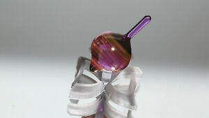 new 1.02 inch Handmade Glass Spinning Top with stand | Lampwork by Dusty Gamble