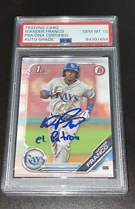 Wander Franco 2019 Bowman Prospects Signed Tampa Bay Rays Autograph PSA 10 AUTO