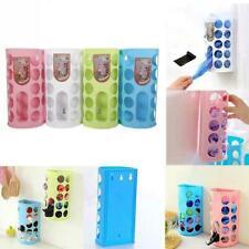 Unique Kitchen Bag Holder Dispenser Box Wall Mount Recycle Plastic Storage US
