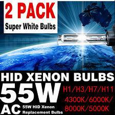 Pair H1 H3 H7 Xenon Globes Bulbs Replacement Bulbs 55W HID 6000K 8000K 4300