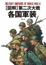 Military Uniforms WWll Guide Japanese book Soldiers illustration WW2