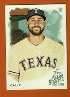 2019 Topps Allen & Ginter Joey Gallo #92 Texas Rangers
