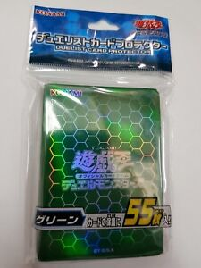 Limited YuGiOh OCG Duelist Card Sleeve Protector GREEN 55pcs (63MMX90MM)