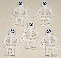 LEGO LOT OF 5 NEW CASTLE SKELETON MINIFIGURE MINIFIGS PIRATE MEN ARMY