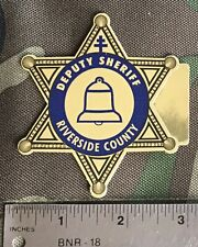 Riverside County California, Deputy Sheriff Star Sticker.