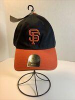 KIDS~San Francisco Giants '47 Brand Adjustable Black & Orange Hat/Cap MLB-NWT