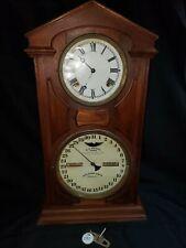 New ListingVery Nice Wall Clock Ithaca Calendar & Clock #80 W/No Reserve