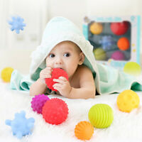 6PCS SENSORY TOUCH MULTIPLE TEXTURED BABY BALLS WITH BB SOUND BATH TOY FUNNY