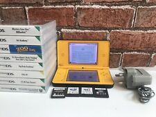 Nintendo DSi XL DS i Handheld game console + 12 Games + Charger - rare Yellow