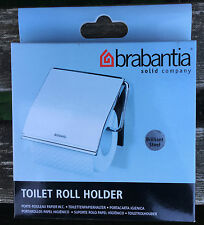 BRABANTIA CHROME  WALL MOUNTED BRILLIANT STEEL TOILET ROLL HOLDER ADJUSTABLE