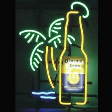 "New Corona Extra Bottle Palm Tree Neon Light Sign 17""x14"" Beer Lamp Real Glass"