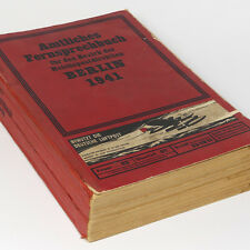 German BERLIN Phone Book 1941 WW2 Address Telephone Vintage Directory Germany