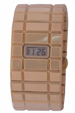 Palazzo Brugiotti Women's 2LC1 Digital Display Gold IP Stainless Steel Watch