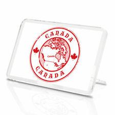 Canada Red Map Classic Fridge Magnet - Maple Leaf Ottawa Stamp Label Gift #4582