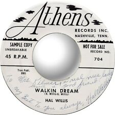 HAL WILLIS - Crazy Little Mama / Walkin Dream - Signed Promo 45 - VG+